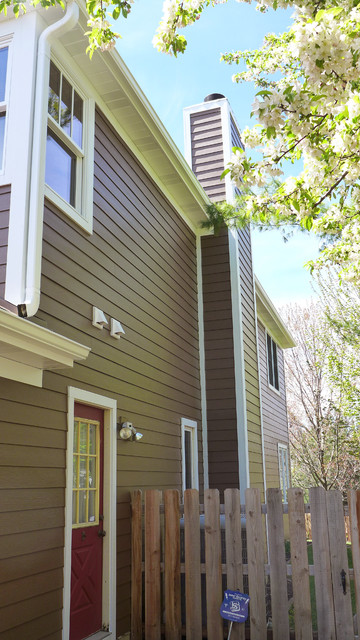 Marvin Ultimate Clad Windows White Hardie Siding And Trim In Hoffman Estates