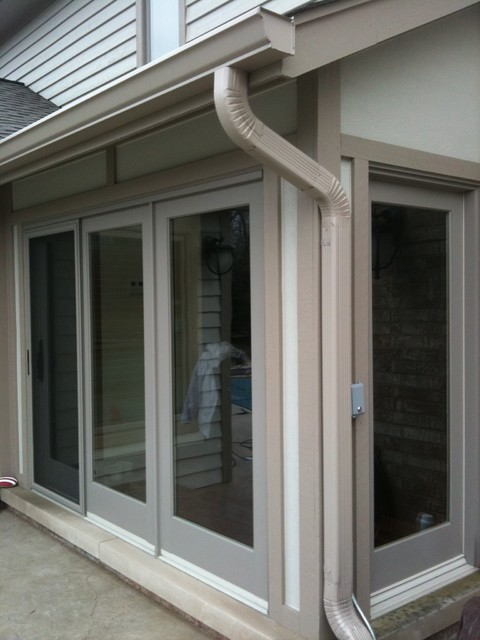 Marvin Sliding French Doors Contemporary Exterior Chicago By Landmark Exteriors Inc
