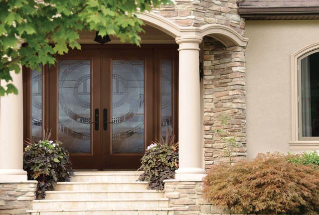 Belleville mahogany textured double entry door exterior for Belleville doors