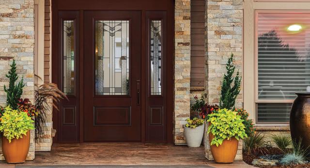 Belleville Mahogany Textured Entry Door Exterior By