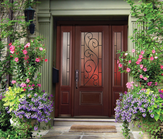 Belleville Mahogany Textured Entry Door Exterior By