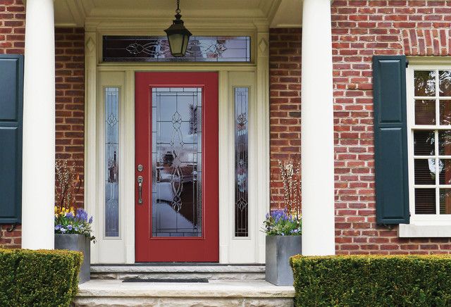 Belleville smooth entry door front doors by masonite doors Belleville fiberglass doors