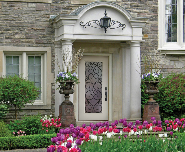 Belleville Smooth Fiberglass Entry Door Exterior By