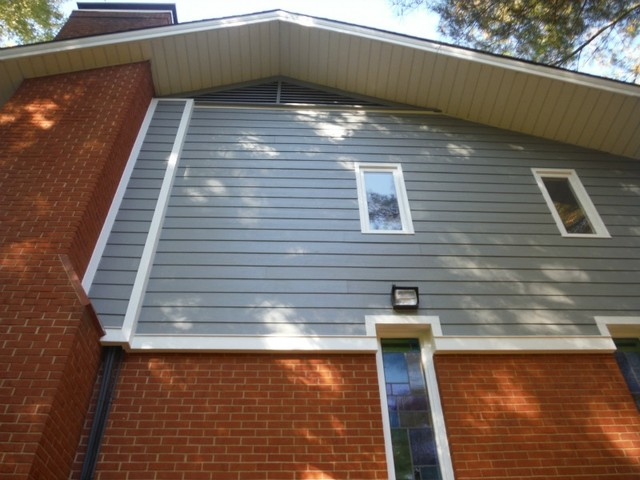 Masonite siding replacement project in ladue mo