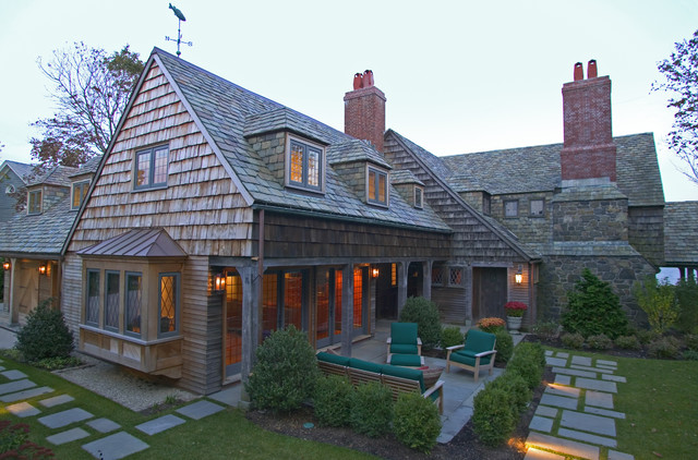 Massachusetts oceanfront home traditional exterior for Building a house in ma