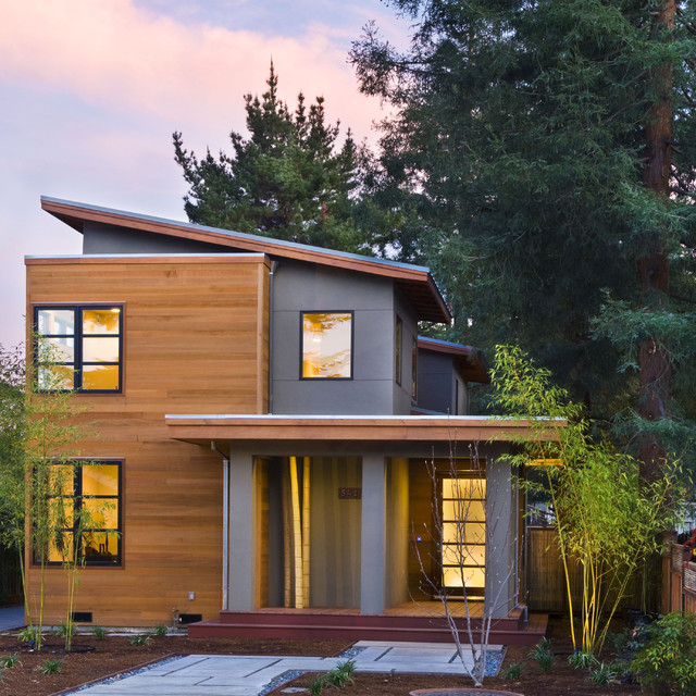 Maybell modern exterior for Small house design houzz