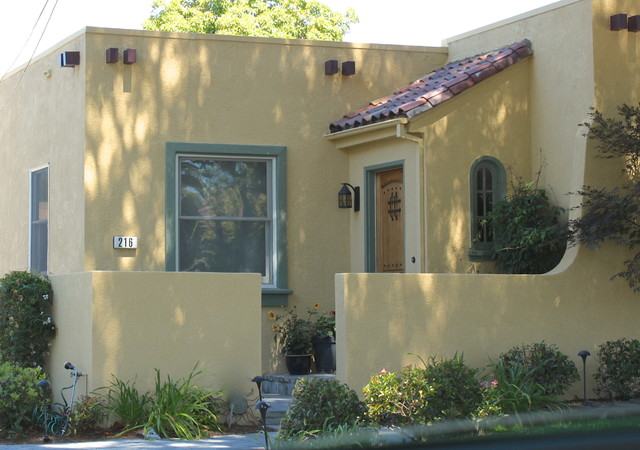 Mediterranean Bungalow Exterior Color Design Burlingame