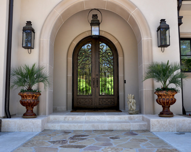 Mediterranean entry mediterranean exterior houston for Exterior entryway design ideas