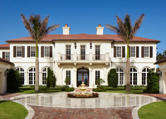Neoclassical oceanfront mediterranean exterior miami for Neoclassical house