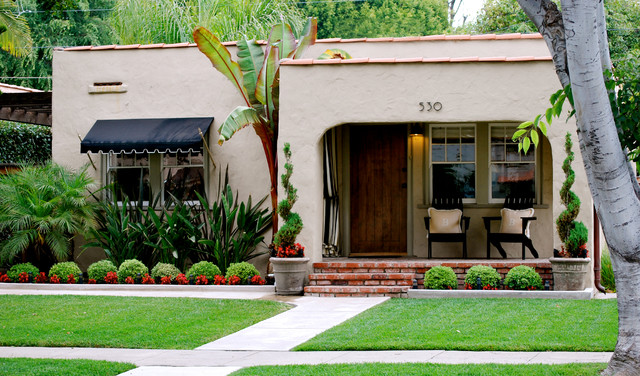 Outdoor Spaces Mediterranean Exterior Orange County