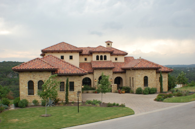 Front Elevation Mediterranean : Anderson front elevation mediterranean exterior
