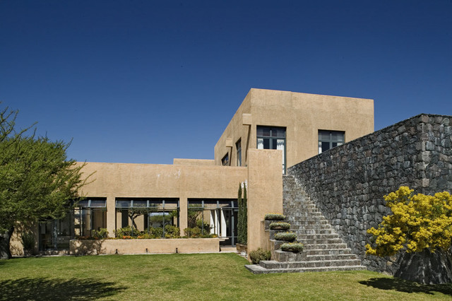 Mexico house mediterranean exterior new york by for New mexico home designs