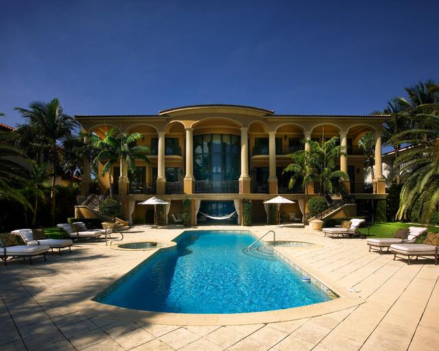 Coral Gables Mansion Mediterranean Exterior Miami on Florida Kitchen Design