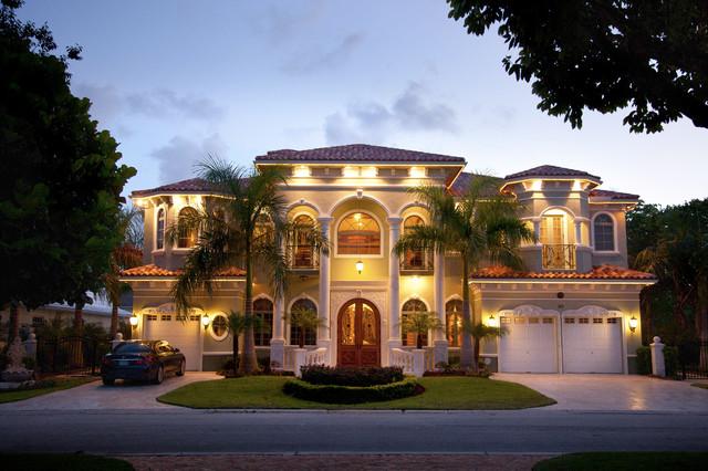 Raj private residence mediterranean exterior miami for Luxury house exterior designs