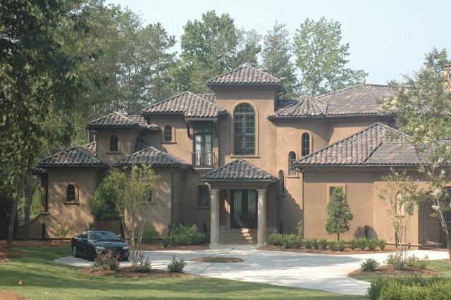 Mediterranean House Plans - Mediterranean - Exterior - Charlotte