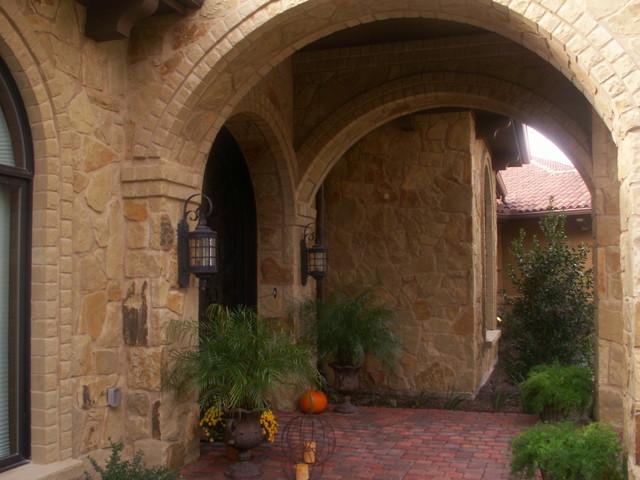 Mediterranean House Foyer : Mediterranean style custom entryway