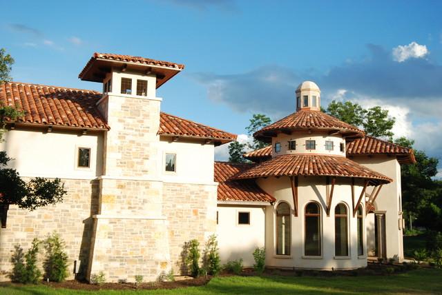 Mediterranean villa in with surprising modern interior in for Mediterranean country house