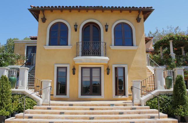 mediterranean villa mediterranean exterior - Mediterranean Exterior Design House