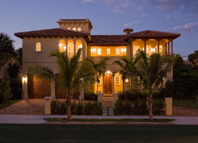 mediterranean villa mediterran haus fassade miami von rar architect inc. Black Bedroom Furniture Sets. Home Design Ideas