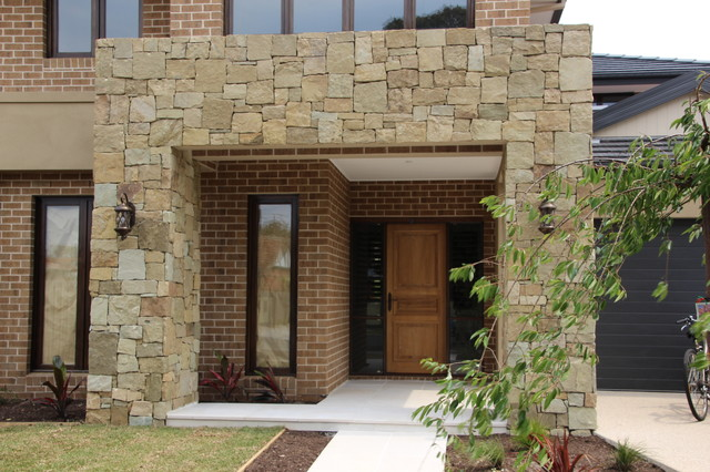 Melbourne feature wall contemporary exterior for Feature wall exterior