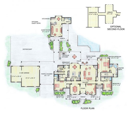 Melina - floor plan traditional exterior