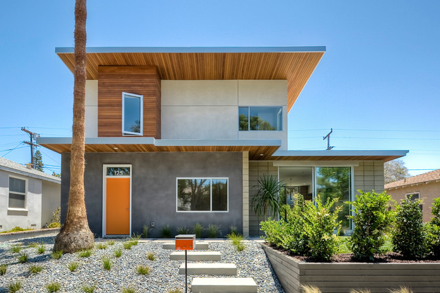 Mellow Yellow House Midcentury Exterior San Diego By Surfside