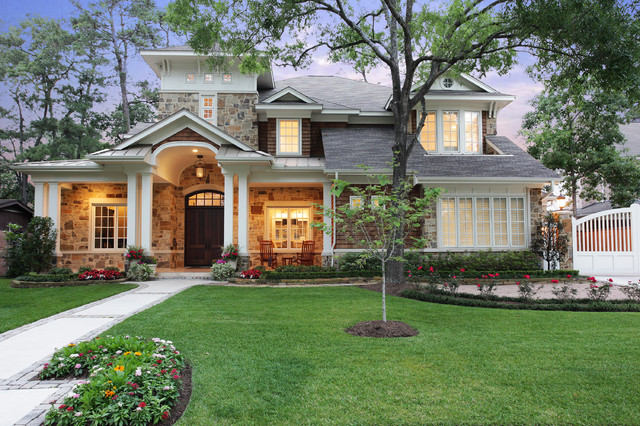Memorial Hamptons Style - Traditional - Exterior - houston ...