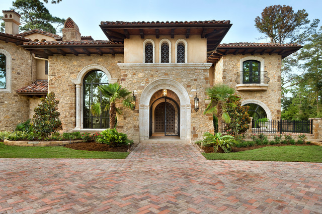 Memorial moroccan mediterranean exterior houston Mediterranean style homes houston