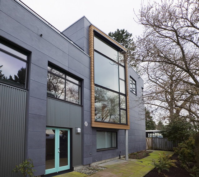 Decorative Exterior Cement Board : Mercer island rear industrial exterior seattle by