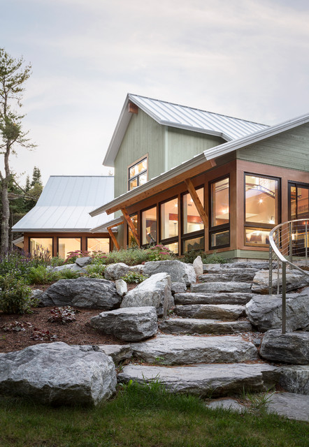 Mere Point Residence Contemporary Exterior Portland