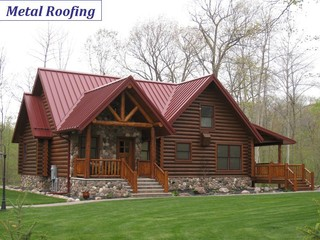 Metal Roofing Rustic Exterior Minneapolis By