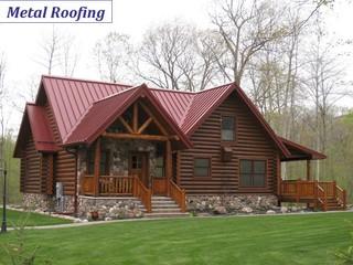 Metal Roofing Rustic Exterior Minneapolis By