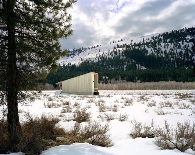 Methow Cabin modern-exterior