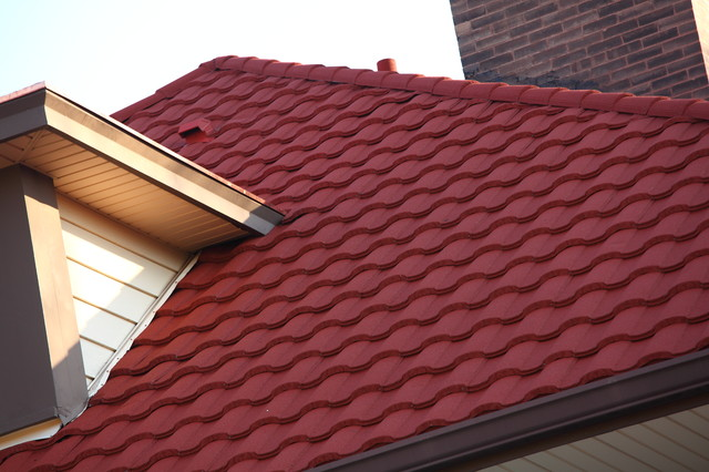 Metro Metal Roman Tile Roof Mission Red Contemporary