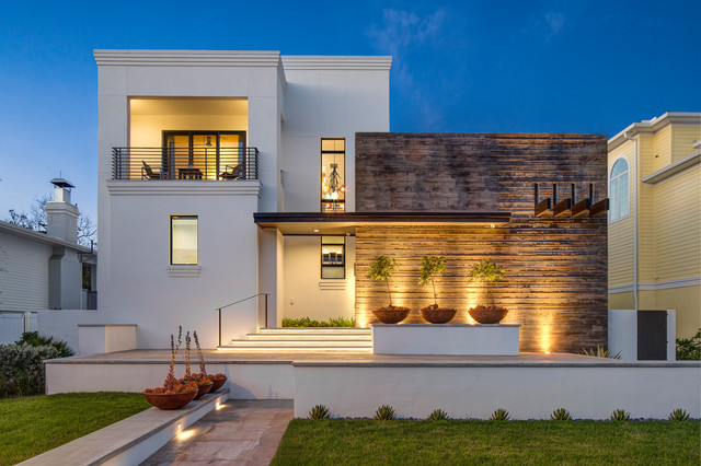 mexican modern contemporary exterior tampa by rojo architecture