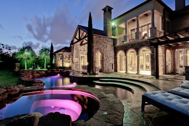 Michael molthan luxury homes interior design group mediterranean exterior dallas by for Luxury home exteriors