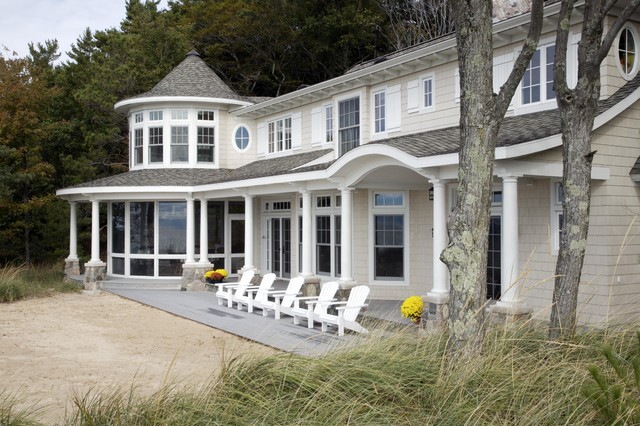 Michigan Beach House traditional-exterior