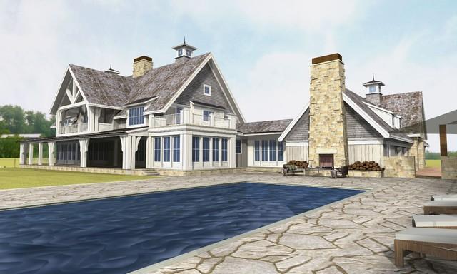 Michigan poolside exterior