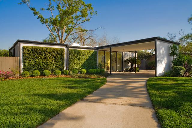 Mid Century Modern Midcentury Exterior Houston By