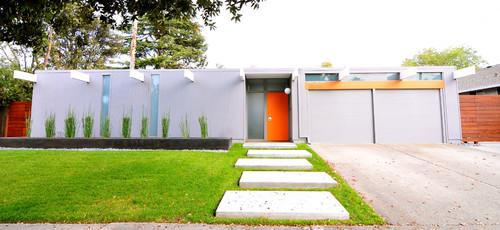 Midcentury Exterior by Sunnyvale Interior Designers & Decorators Urbanism Design