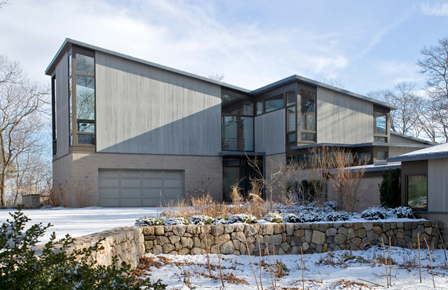 Mid Century Modern House Modern Exterior Chicago By Roberts Architect