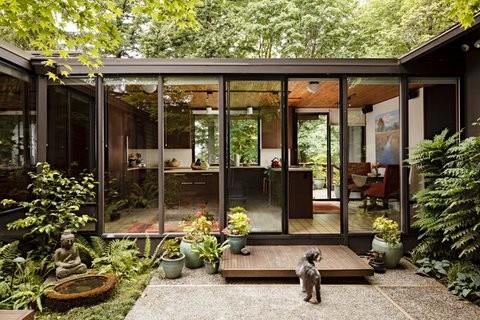 Mid Century Modern Kitchen Modern Exterior Portland