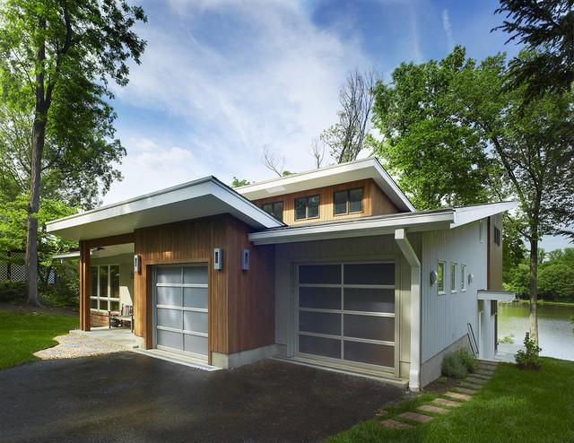 Mid Century Modern Lake House - Contemporary - Exterior - DC ...