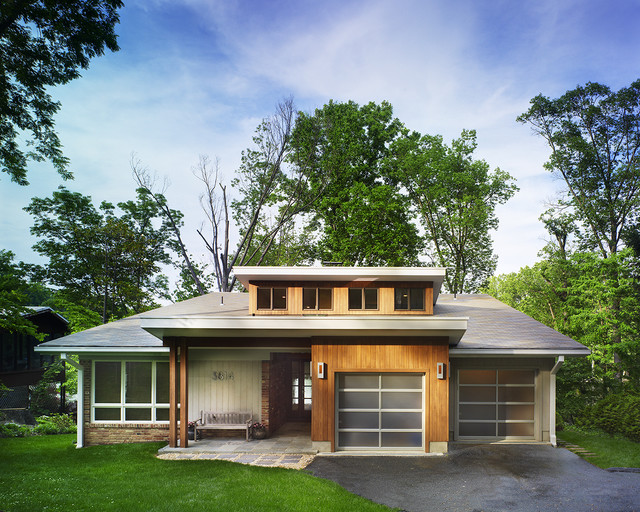 mid century modern lake house modern exterior dc metro by