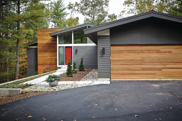 Mid Century Modern Midcentury Exterior Grand Rapids By New Urban Home Builders
