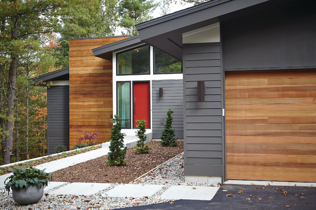 Mid century modern midcentury exterior grand rapids for Century home builders