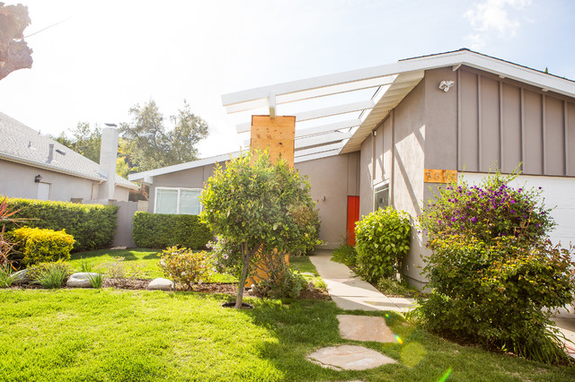 mid century modern remodel in agoura hills contemporary exterior