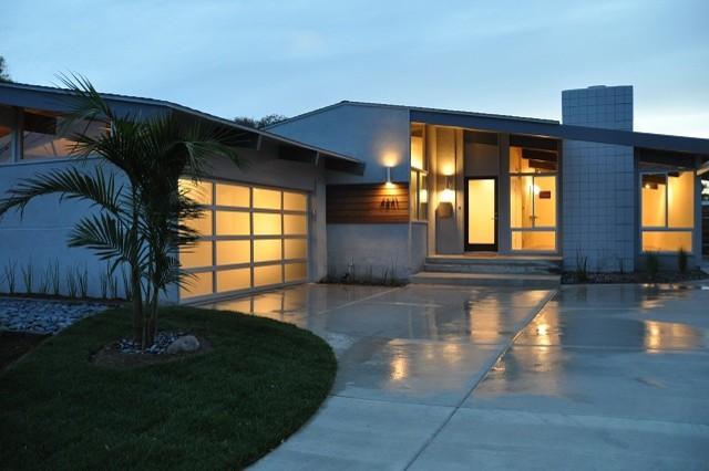 mid century modern renovation modern exterior