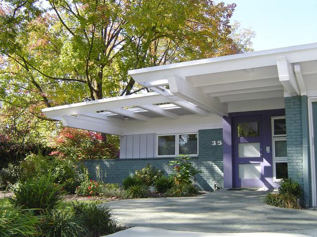 mid century modern renovation midcentury exterior columbus by