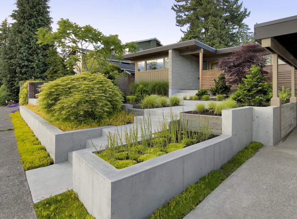 Trendy one-story exterior home photo in Seattle